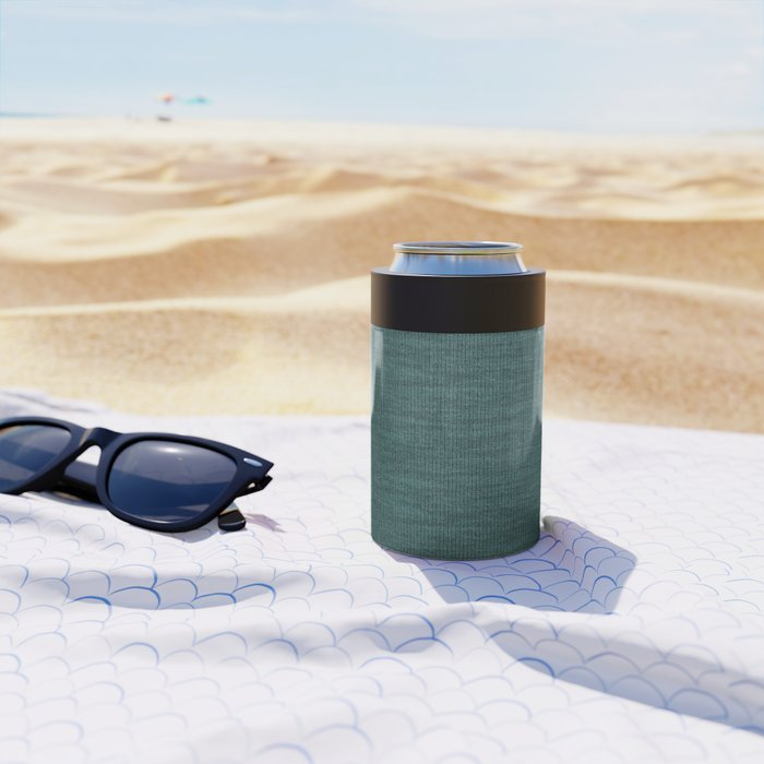 Teal Knitted Weaving Can Cooler