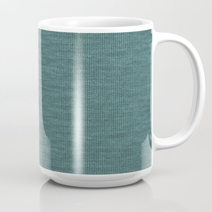 Teal Knitted Weaving Coffee Mug