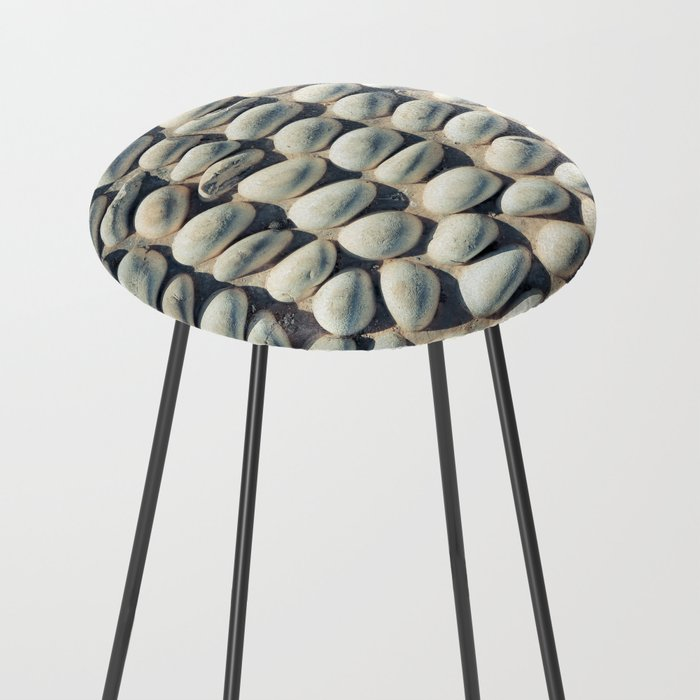 White Pebble Counter Stool