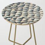 White Pebble Side Table