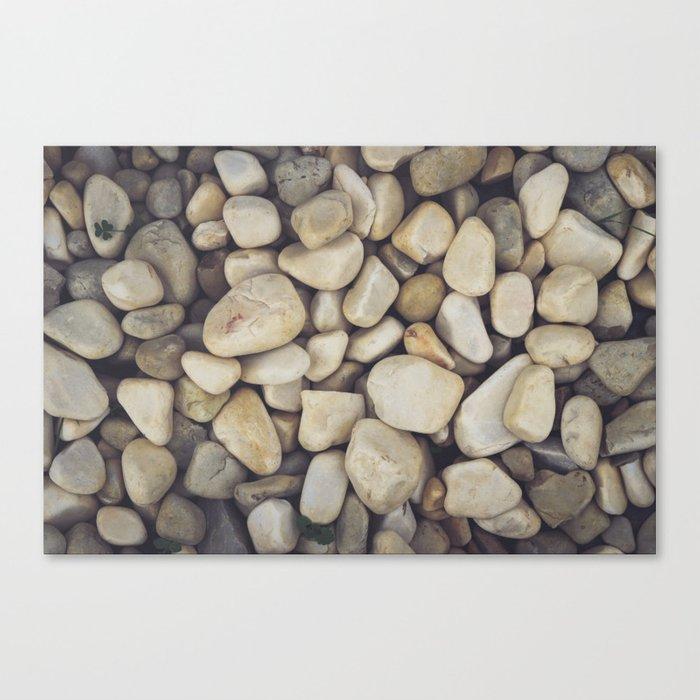 White Stones Canvas Print