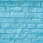 Blue bricks wall texture. Concrete blocks wall background.