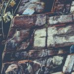 Layered rock texture. Mountain stone pattern background.