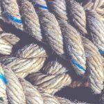 Crossing sling rope texture. Nautical marine background.