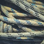 Crumpled crossing ropes texture.