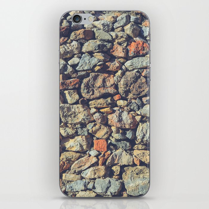 Cobblestones Wall Texture iPhone Skin