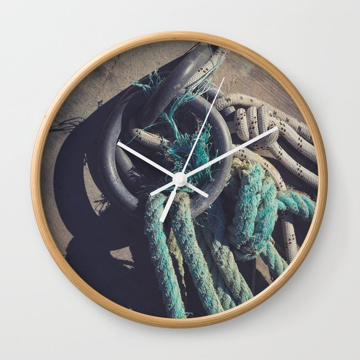 Concrete Pier Surface Wall Clock