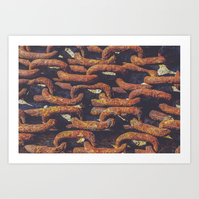 Old Rusty Chains Prints