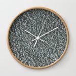 Rough Blue Granite Wall Texture Wall Clock