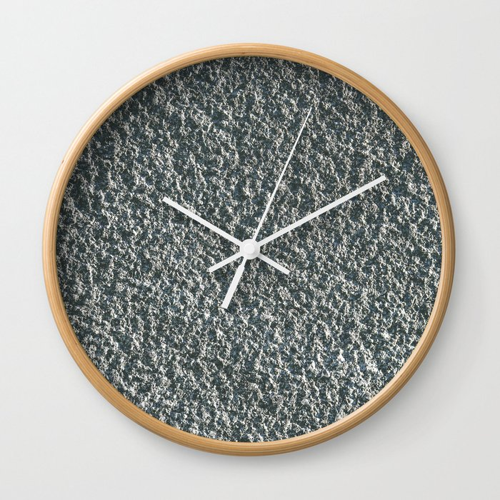 Rough Blue Granite Wall Texture Wall Clock