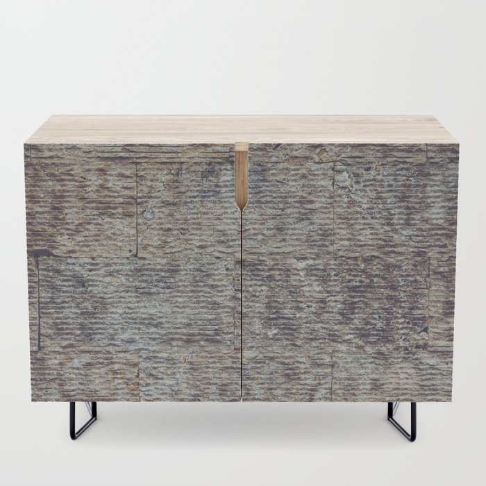Sawn Along Tile Pattern Wall Texture Credenza