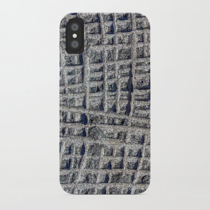 Sawn in Blue Granite Wall iPhone Case