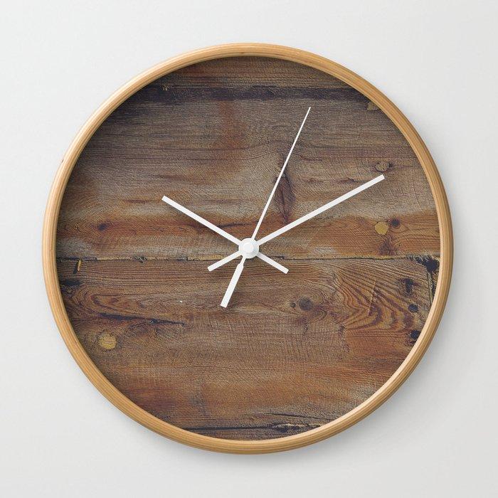 Shipboard Planks Wall Clock