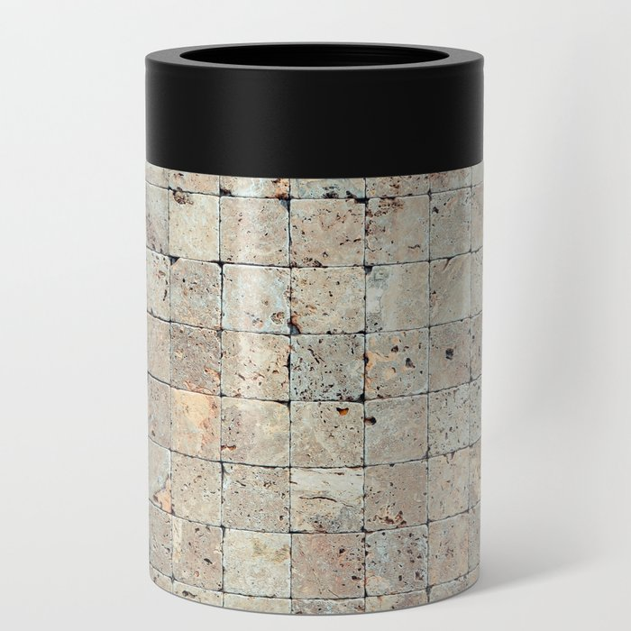 Square Stones Masonry Background Can Cooler