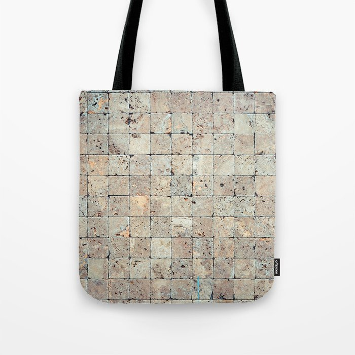 Square Stones Masonry Background Tote Bag