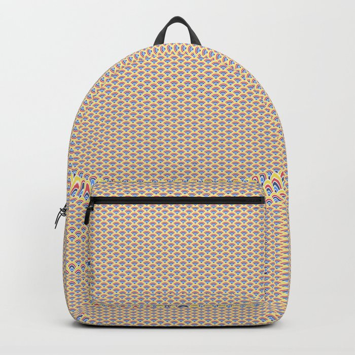 Beige Seigaiha Backpack