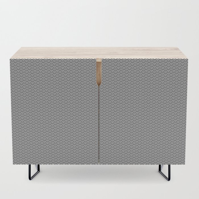 Black and White Seigaiha Credenza