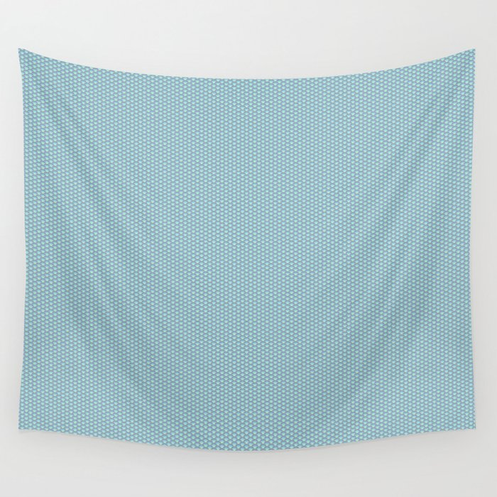 Blue Seigaiha Pattern Wall Tapestry