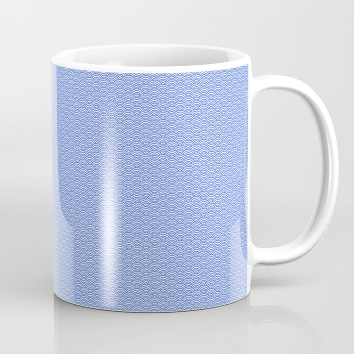 Blue Sky Seigaiha Pattern Coffee Mug
