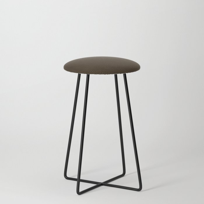 Brown Seigaiha Counter Stool