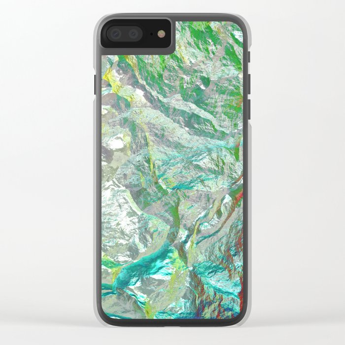 Chameleon rock Clear iPhone Case
