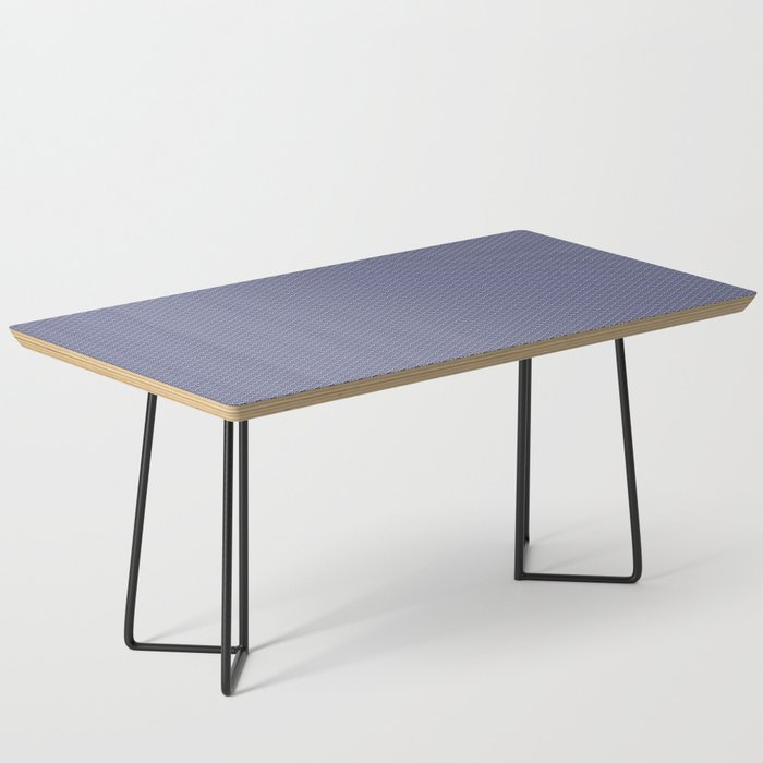 Dark Blue Seigaiha Pattern Coffee Table