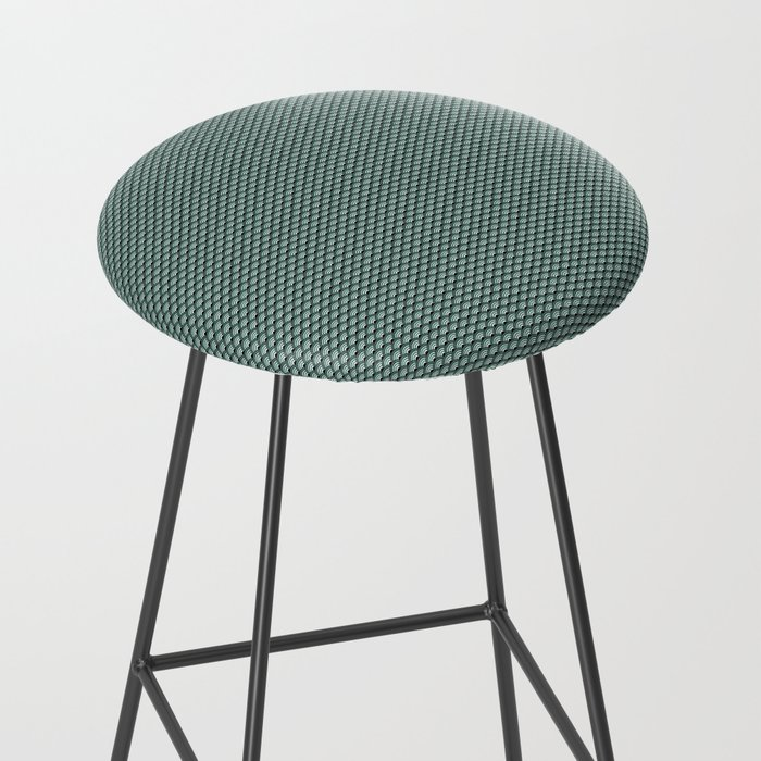 Dark Turquoise Seigaiha Bar Stool