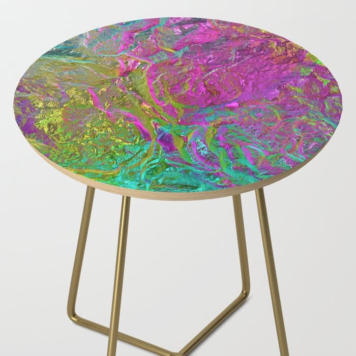 Holographic Gradient Side Table