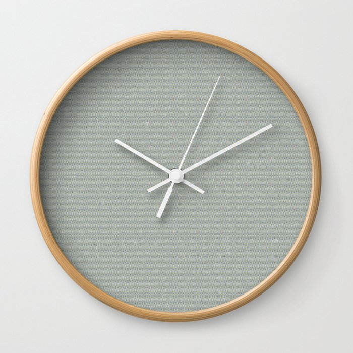 Light Green Seigaiha Pattern Wall Clock