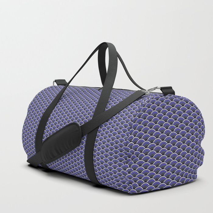 Purple Lilac Seigaiha Duffle Bag