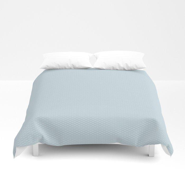 Sky Blue Seigaiha Pattern Duvet Cover
