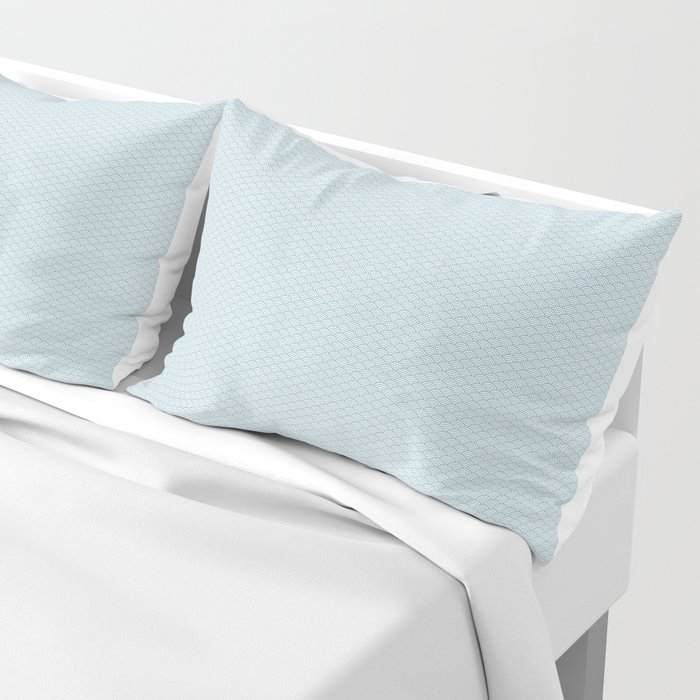 Sky Blue Seigaiha Pattern Pillow Sham