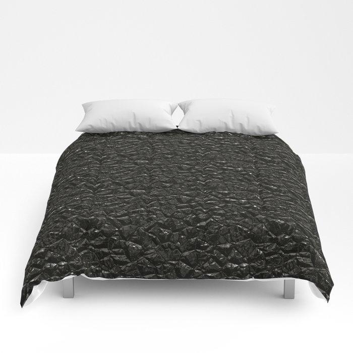 Black crystal gem wall Comforters