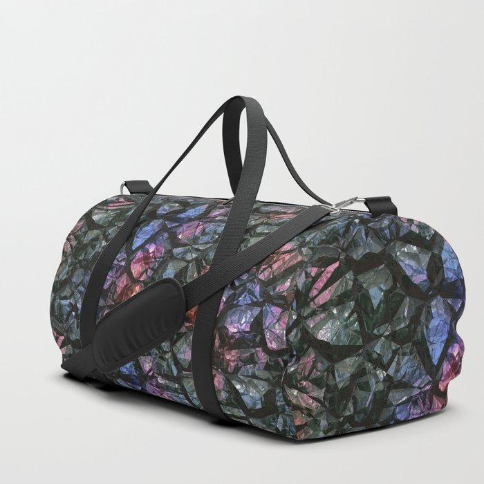Black crystal gem wall Duffle Bag