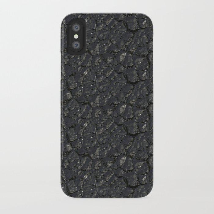 Black crystal gem wall iPhone Case