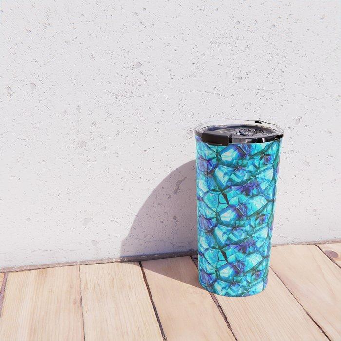 Blue crystal gem Travel Mug