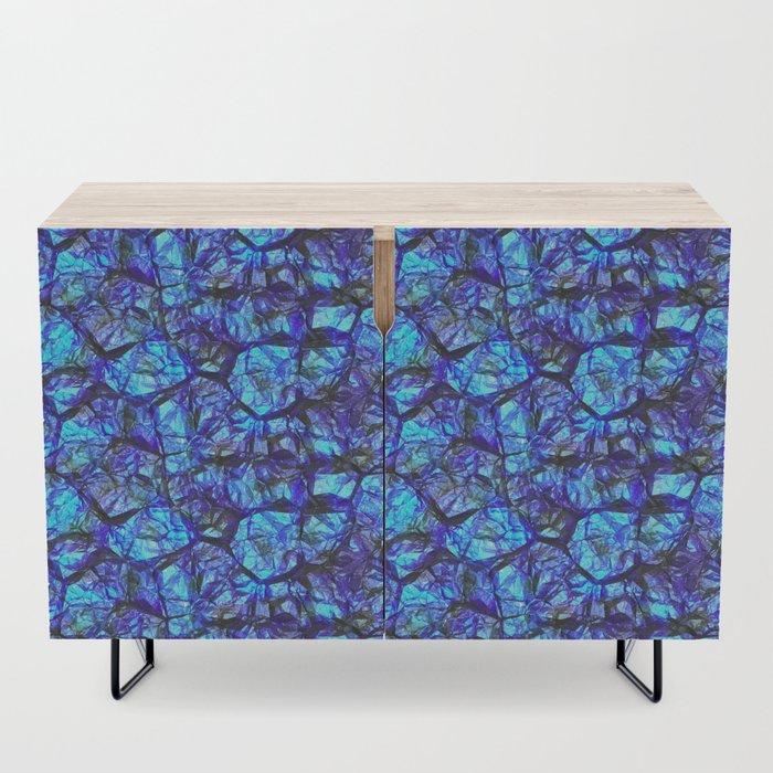 Blue gemstone wall Credenza