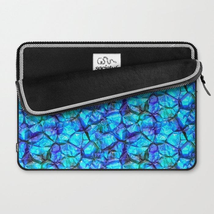 Blue gemstones Laptop Sleeve