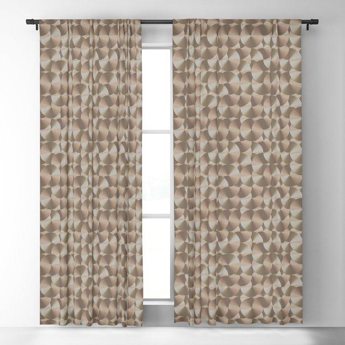 Chrome art deco vintage rings Blackout Curtain
