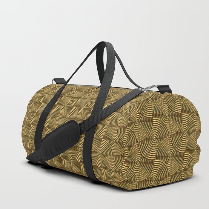 Gold art deco Duffle Bag