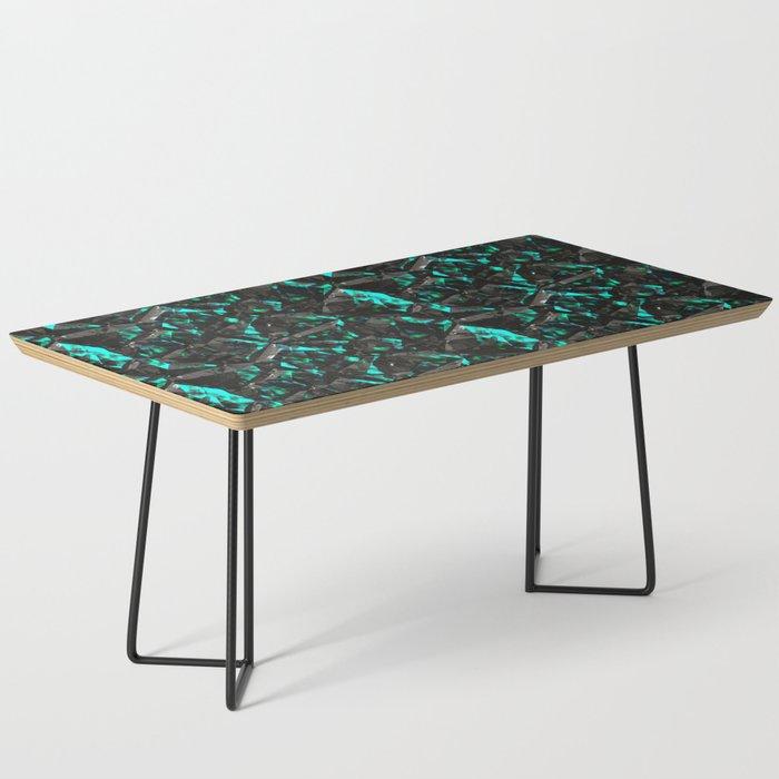 Green blue black shiny rock stone texture Coffee Table