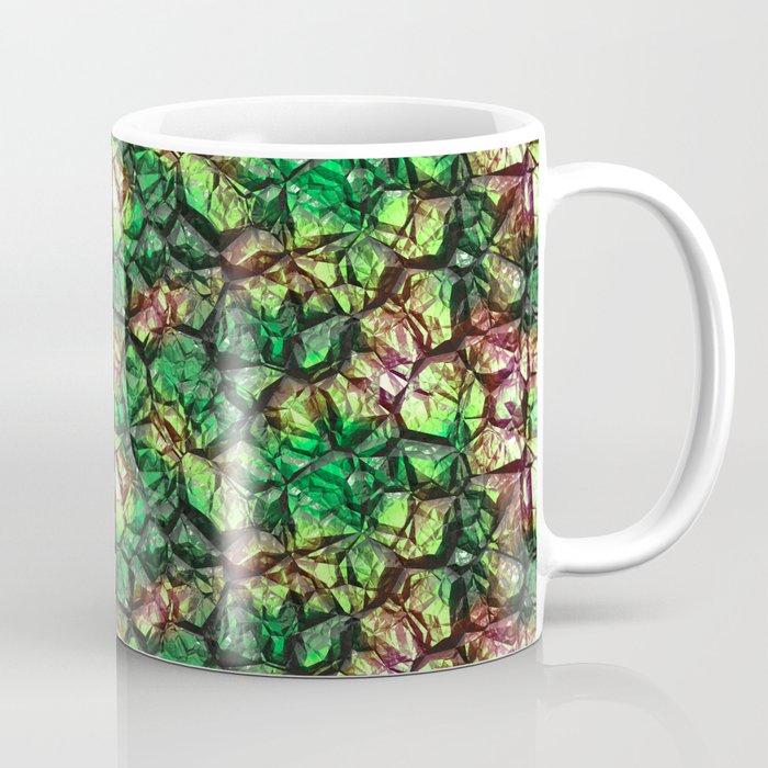 Green shiny colors rock stone Coffee Mug