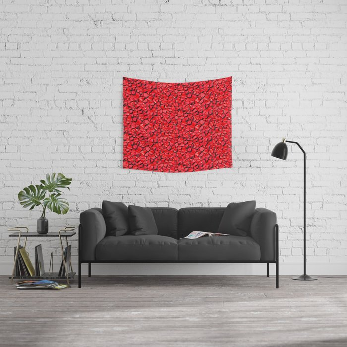 Red crystal gem wall Wall Tapestry Wall