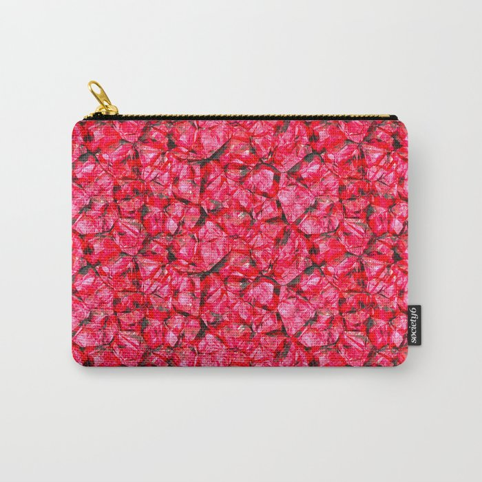 Red pink gemstone wall Carry-All Pouch