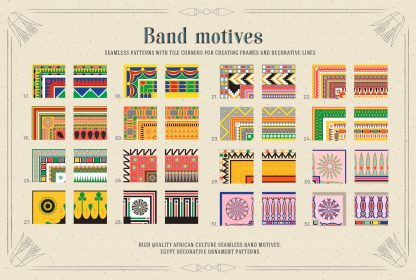 Egypt Patterns Band Motives for Illustrator & Photoshop