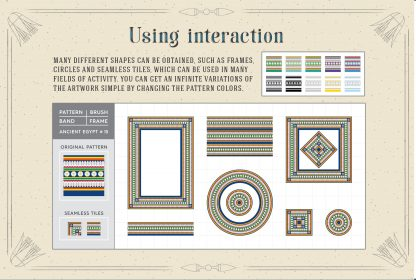 Egypt Patterns Brushes and Swatches for Illustrator & Photoshop