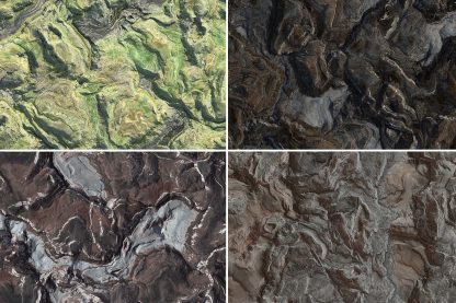 20 Hills Topography Top View Background Textures. Seamless Transition. Preview.