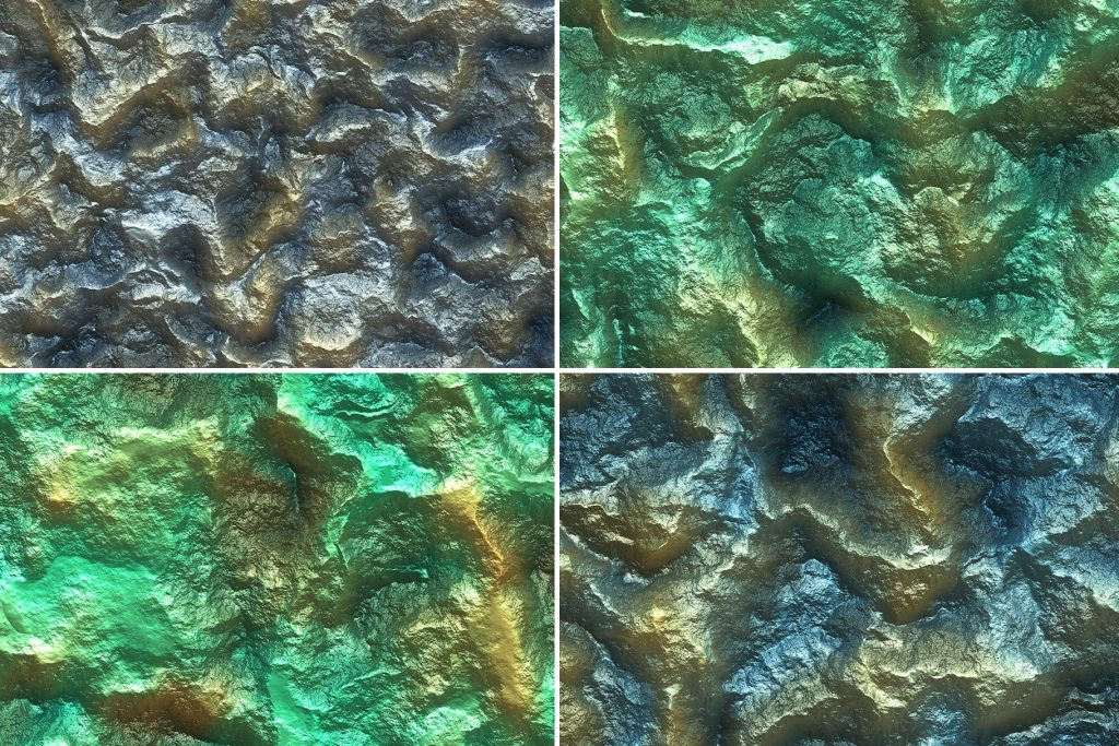 20 Metal Mineral Wall Background Textures. Seamless Transition.