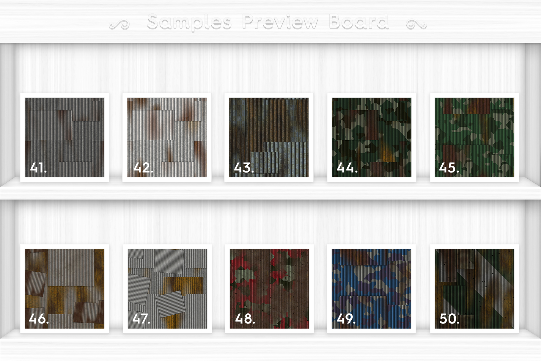 50 Corrugated Metal Background Textures Preview Set 5