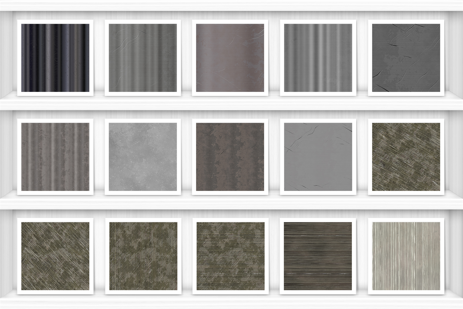 Scratched Metal Background Textures Preview Set 1